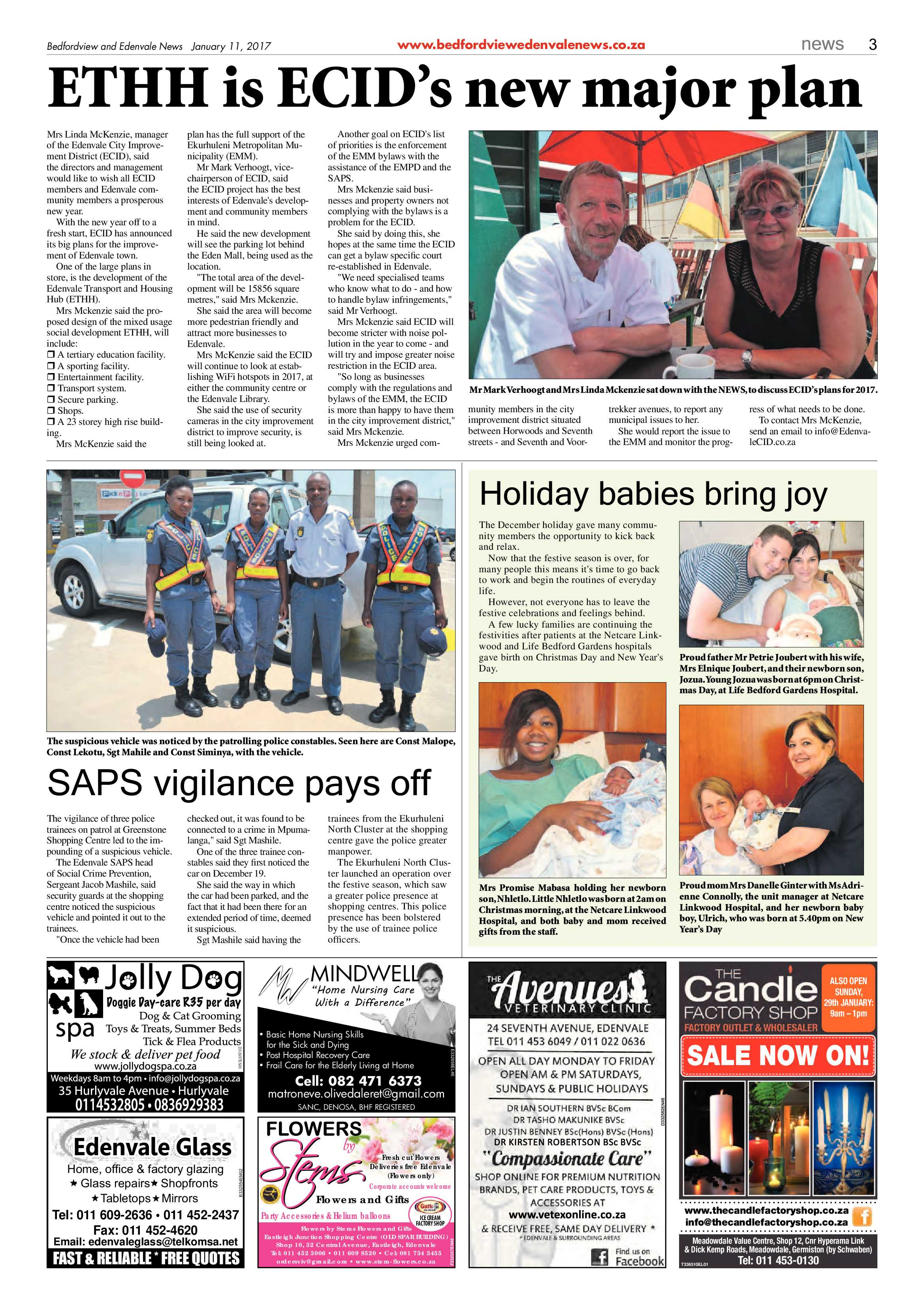 Bedfordview and Edenvale News 11 January 2017 | Bedfordview